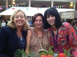 Belinda Murrell, Simmone Howell and Leah Giarratano at the Prologue Party