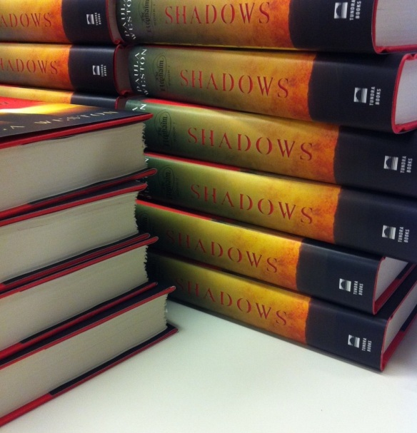 The North American edition of Shadows (Tundra Books) in hard cover.