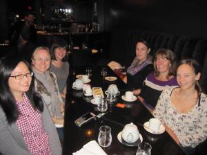 Having lunch with the wonderful team from Tundra Books in Toronto.